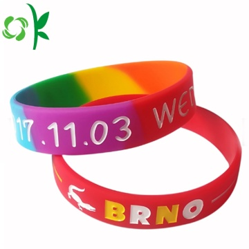 Custom Silicone Festival UV Engraved Bracelet for Gift