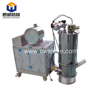 Conveying electric vacuum conveyor for plastic