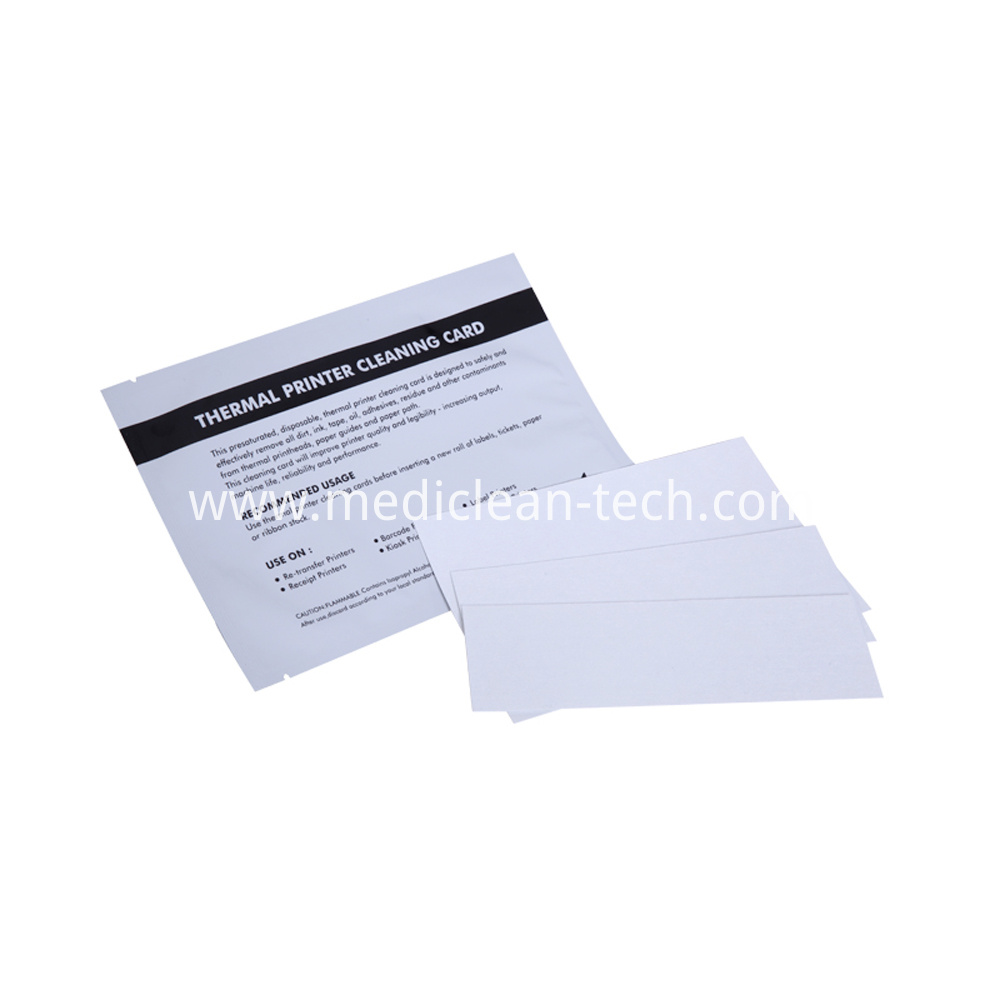 Thermal Printer Printhead Cleaning Cards 2.5x6