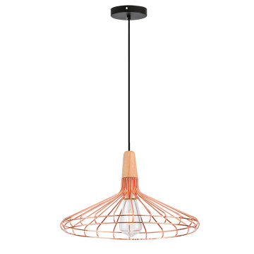 Wooden Metal shade pendant Light L size