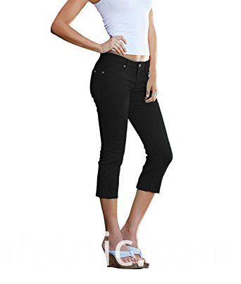 548women S Perfectly Shaping Stretchy Denim Capri