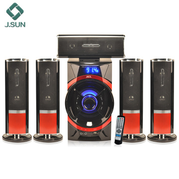 Quality home speaker system amplifier with subwoofer