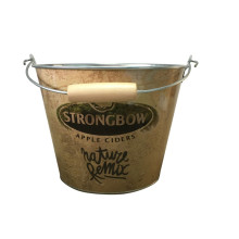 China Gold Supplier for for China 5Qt Ice Bucket,Galvanized Ice Bucket,Bar Ice Bucket Supplier Custom Printed Round Party Wooden Handle Bucket supply to Armenia Exporter