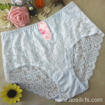 the hottest sale hipster new white China polyster sexy plus size panty 3xl A565