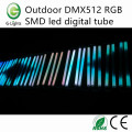 Outdoor DMX512 RGB SMD led digital tube