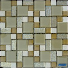 Glass Mixed Stone Mosaic Tile