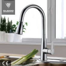 Single Handle Brushed Nickel Long Neck Kitchen Faucet