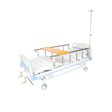 Medical equipment metal 2 crank manual hospital bed