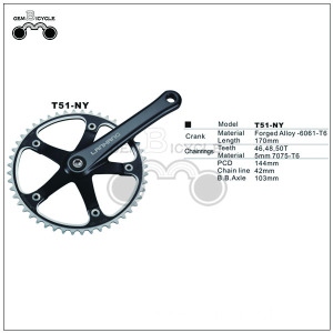 Cheap 103mm axle steel bicycle crank sprocket