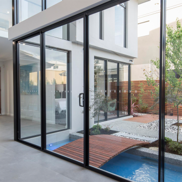 Lingyin Construction Materials Ltd 2020 aluminum sliding door aluminum frame glass doors in china