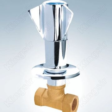 Brass Valve With Zinc Flange And Knob