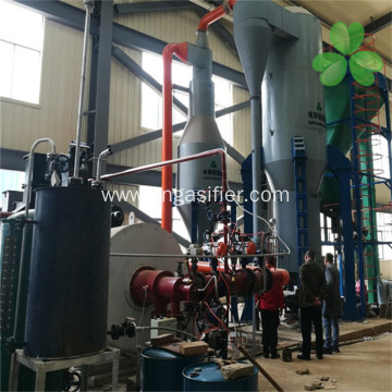 Fuel full combustion biomass circulating fluid bed gasifier