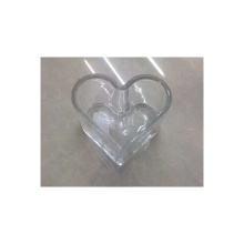 Glass Heart Shape Tealight Candle Holder