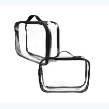 PVC Plastic Clear Cosmetic Toiletry Bag for Travel