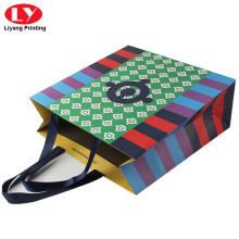 Custom colorful paper shopping bag printing