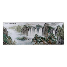 China for Handmade Embroidery Painting Hand Embroidered Landscape Painting export to Chile Manufacturer