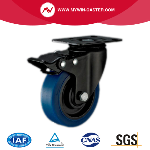 Bolt Hole TPR Industrial Caster With Brake