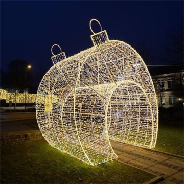 christmas  6m large white color led ball