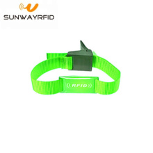Customized for RFID Nylon Wristbands TK4100 Read Only 125khz rfid woven nylon bracelets export to Niger Factories