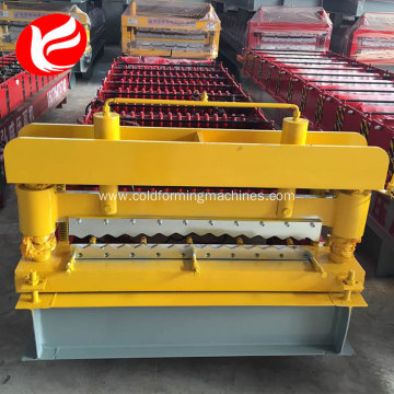 Corrugated aluminum color steel making machine