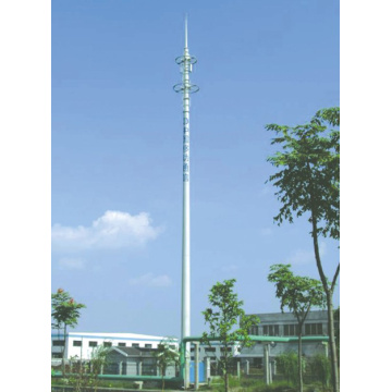 Renewable Design for Telecommunication Steel Tower Commnicationd Painted Steel Monopole supply to Greenland Supplier