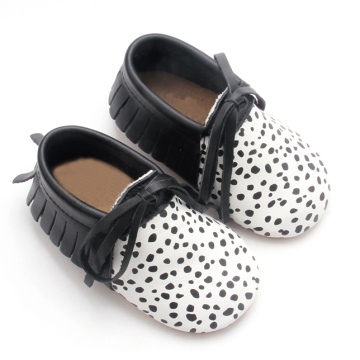 Printed Dots Newborn Infant Baby Moccasins