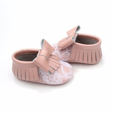 New Style Durable Individuality Leather Baby Moccasins