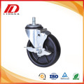 4 inch black PP industrial casters with lock