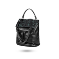 Snakeskin women's chain leather backpack