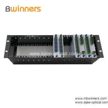 Fiber PLC Splitter with 1U 19 Rack Mount