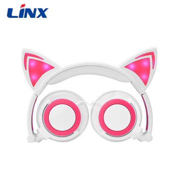 Hot selling attractive for Cat Headphone Christmas gift cute design glowing headphone for Kids supply to Jordan Supplier