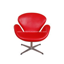 High Quality Red Leather Swan Chair Replica