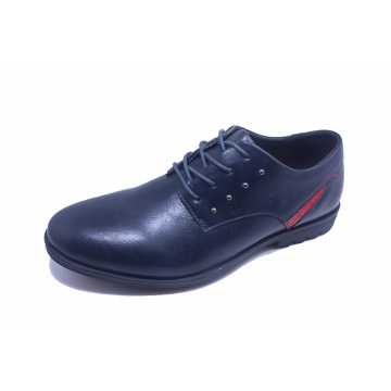 Black Cowhide Leather Officer Business Men Shoes