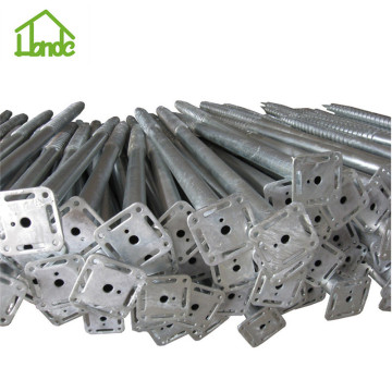 Factory price galvanized ground screws