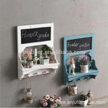 China for Floating Wall Shelves Country wooden wall hanging shelf with 3 hooks export to Honduras Wholesale