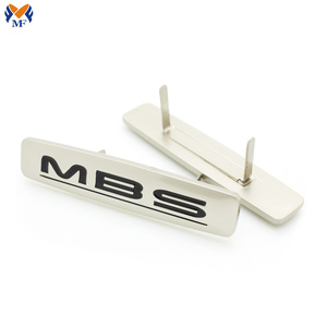 Customized metal logo plate for handbag