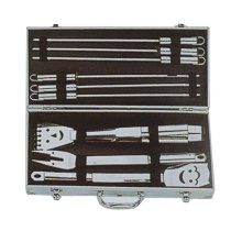 11pc BBQ smile set with aluminum case