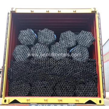 black galvanized steel pipes tubes hollow sections