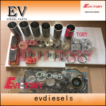 KOMATSU 6D125 rebuild overhaul kit gasket bearing piston