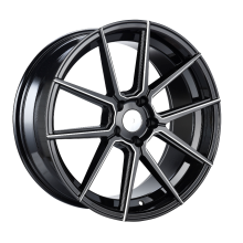 Aluminium Staggered Wheels Gunmetal Machined Face