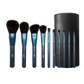 10Pcs Glitter Sapphire Blue Cosmetic Brush Kit Bag