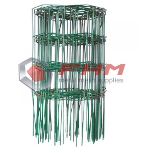 Rolled PVC Coated Green Border Fence for Garden