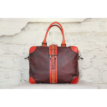 Handmade leather vintage classic swagger bag