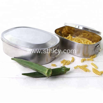 Concise Stainless Steel Lunch Box Food Container