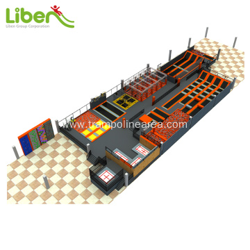 Big elastic spring kids indoor trampoline park bed