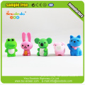 Animal Promotional Fancy Kids Gift Novelty School Puzzle Erasers