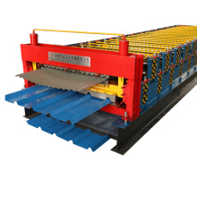 Low price double roll forming machine