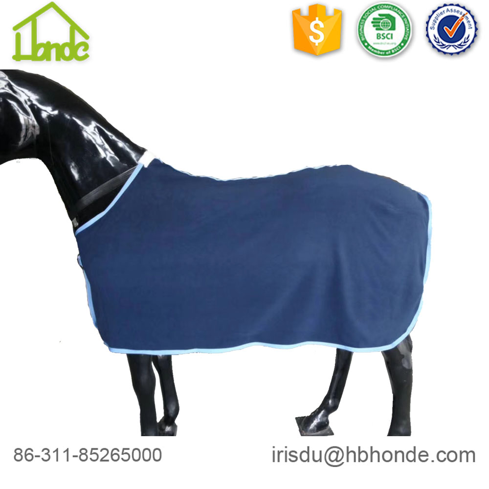 blue polar fleece horse rug