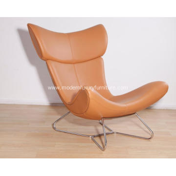 Leather Boconcept Imola lounge Chair and stool