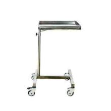 Stainless steel single pole square tray bracket
